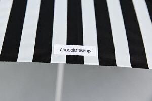【chocolatesoupチョコレートスープ】キッズサイズS(45cm)5種類の柄から選べる傘/スティックボーダートライアングルアニマルモノクロ【アンブレラ白黒おしゃれ子ども用】あす楽リトルレモネード