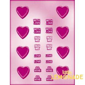 CK チョコレート型 ハート・メッセージ【チョコレートモールド 型抜き お菓子作り テンパリング バースデイ スイーツ 製菓 手作り バレンタイン 誕生日】 あす楽 リトルレモネード