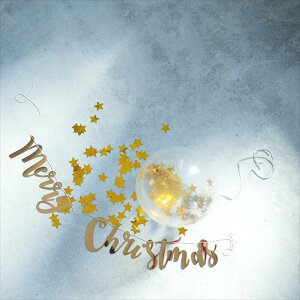 あす楽!【GingerRay】MerryChristmasスクリプトガーランドゴールド筆記体バナー【gold】【クリスマスX'mas・バースデイ装飾・バナーインテリアアルファベットガーランドジンジャーレイカリグラフィ】リトルレモネード