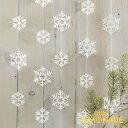 雪の結晶ガーランド スノーフレーク【Ginger Ray】【壁 飾り 白 ホワイト White ハンギングデコレーション バナー デ…