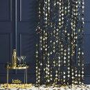 ゴールドスターシャワーカーテン幅1.2m【GingerRay】星STAR背景バックドロップ壁面飾りクリスマス飾り誕生日飾りデコレーションディスプレイ空間デコレーションイベントbackdropカーテンきらきらあす楽リトルレモネード