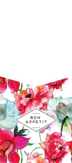 【IndigoDePapel】WatercolorFlowersカトラリーホルダー12枚セット水彩花柄【チリ産デザイナーブランド食卓おもてなしテーブルコーディネイト紙製】あす楽リトルレモネード