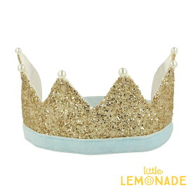 【Meri Meri】ゴールドパールパーティークラウン Gold & Pearl Party Crown【王冠 クラウン パール アクセサリー パーティーハット 女の子 プレゼント】あす楽 リトルレモネード メリメリ