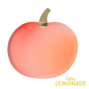 【Meri Meri】 オレンジパンプキン ダイカット ペーパープレート 8枚入り かぼちゃ 紙皿 HALLOWEEN ハロウィーン パンプキン テーブルコーディネート パーティー 紙皿】 あす楽 リトルレモネー
