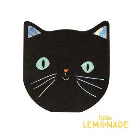 【Meri Meri】猫 ペーパーナプキン ハロウィンパーティー ネコ BLACK CAT NAPKIN イリディセント Halloween ハロウィーン 紙ナプキン ペーパータオル テーブルコーディネート 飾り付け あす楽 リトルレモネード