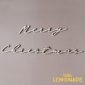 【Merry Christmas】 Wood Banner ウッドバナー 木製バナー スクリプト クリスマス 筆記体バナー 飾り ナチュラル シンプル 飾り付け レターバナー ガーランド カリグラフィ MIC プチプラ あす楽 リトルレモネード LLS