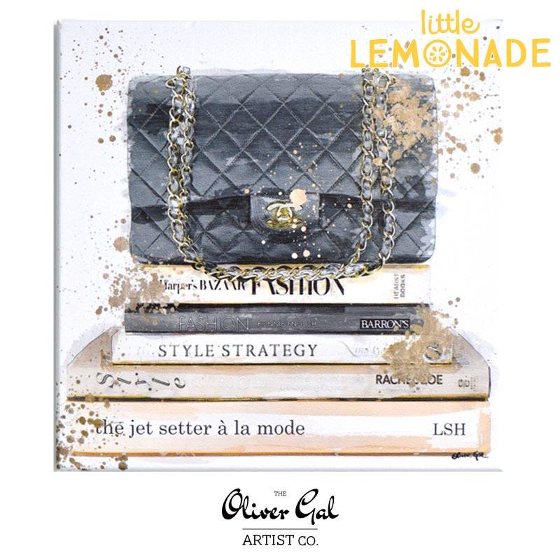 【Oliver Gal Art】Jetsetter a la Mode / CHANEL Black Hand Bag  (15814) オリバー・ガル アートボード  あす楽 リトルレモネード