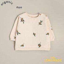 【organic zoo】 Olive Garden Sweatshirt オリーブ柄 スウェットシャツ トレーナー 3-6か月/6-12か月/1-2歳/2-3歳/3-4歳 トップス オーガニックコットン オーガニックズー ベビー 子供 男の子 女の子 シンプル おしゃれ あす楽 リトルレモネード アパレル 20AW