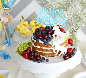 あす楽!ケーキトッパーit'syourbrithdayブルー【ケーキ用飾り】caketopperハッピーバースデイファーストバースデイ1歳誕生日ネコポス可