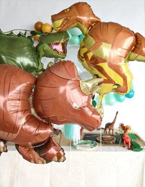 あす楽!【送料無料】T-REXバルーンレックス恐竜ドラゴンダイナソー【浮かせてお届け】ヘリウムガス入り男の子が喜ぶお祝い誕生日バースデイパーティー風船ディスプレイレセプション装飾リトルレモネード
