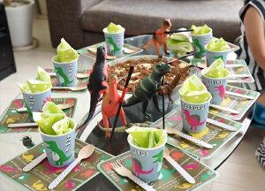 あす楽!【merimeriメリメリ】恐竜ペーパープレート【dinosaurpaperplate】パーティー用紙皿ホームパーティーやバースデイにリトルレモネード