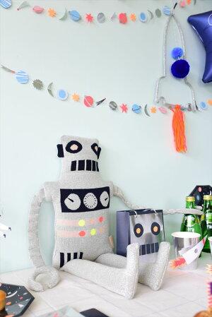 【MeriMeri】ロボットのぬいぐるみソフトトイファブリックトイギャラクシー子供のおもちゃギフト出産祝い誕生日祝いクッション子供部屋インテリアLargeRobotKnittedToyあす楽リトルレモネード