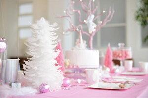 クリスマス飾り【TalkingTables】ホワイトフェザークリスマスツリー白い羽根のクリスマスツリー【ウィンターインテリアフェザー羽パーティー装飾デコレーションオシャレインテリアX'mas】あす楽リトルレモネード