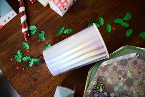あす楽!【MeriMeriメリメリ】シルバーホログラムペーパーカップ8個入りトールサイズ【HolographicCup】紙コップ使い捨てカップ紙コップホームパーティー誕生日クリスマスパーティーテーブルコーディネート飾りChristmasXmasリトルレモネードあす楽