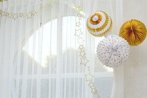 あす楽!【MeriMeri】ゴールド3種アコーディオンボール星柄・ストライプ・ゴールド3個入り【パーティー装飾飾りつけに誕生日お祝いクリスマスウェディング結婚式デコレーションパーティーセット】