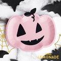【PartyDeco】ピンクパンプキンのペーパープレート6枚セットハロウィンかぼちゃカボチャペーパープレート紙皿ねこPinkPumpkinPlatesHalloweenハロウィーンテーブルウェアパーティー装飾あす楽リトルレモネード