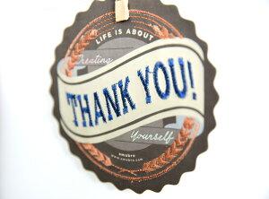 あす楽!【amabroアマブロ】刺繍入りメッセージカード/THANKYOU【EMBROIDERYカードメッセージグリーティングプレゼントお祝いサンキューカード御礼状】リトルレモネード