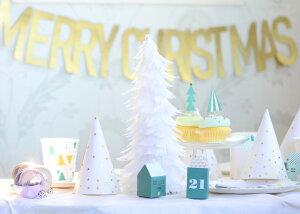 あす楽!【TalkingTables】フェザークリスマスツリー白い羽根のクリスマスツリー【クリスマスフェザーXmasパーティー装飾デコレーションオシャレインテリア】