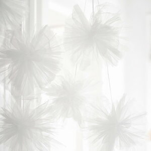 あす楽!【Talkingtables】チュールのフラワーポム3個セットベイビーピンク【ホームパーティーパーティーグッズウェディング装飾】無地トーキングテーブルゆめかわいい