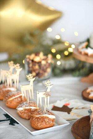 あす楽!【MeriMeri】木製トナカイのミニガーランドグリッターのお星さまとセットになったウィンターガーランド【XmasChristmasクリスマスパーティー装飾デコレーション飾り付けパーティー】リトルレモネード