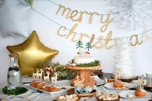 あす楽!【MeriMeri】ゴールドのアクリル板を使用したmerrychristmasカリグラフィガーランド大きめ【ChristmasXmasクリスマス装飾デコレーション店舗ディスプレイクリスマスパーティー】リトルレモネード