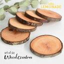 ウッドコースター 6枚セット/ ALDER リトアニア産 【クリスマス christmas X'mas 木製 コースター 年輪 自然 カフェ風…