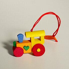 【クリスマス用品 】Graupner:グラウプナー・黄色い機関車[ Christmas:クリスマスオーナメント]