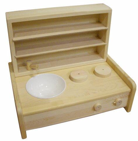木の香りに包まれます。木遊舎・ミニキッチン・棚BOXセット 【木のおもちゃ】★送料無料