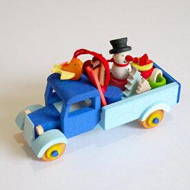 マラソン最大10倍!【クリスマス用品 】Graupner:グラウプナー・雪だるまのトラック[ Christmas:クリスマスオーナメント ]