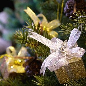 【オリジナルクリスマス用品】グリッタープレゼントボックス9個セット[ Christmas:クリスマスオーナメント
