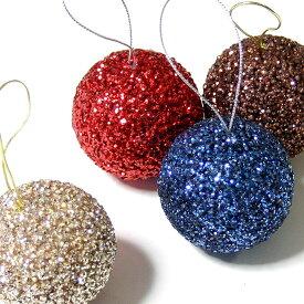 【オリジナルクリスマス用品】50mmグリッターボール12個セット[ Christmas:クリスマスオーナメント