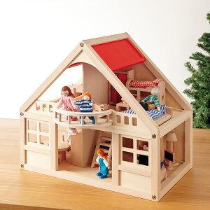 【ままごと遊び】【 BorneLund:ボーネルンド 】人形、家具が全てセット!ベランダと階段のあるマイドールハウスセット【楽ギフ_包装】【楽ギフ_のし】