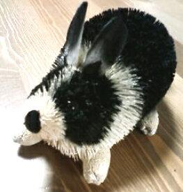 Brush Animal:ラビットBlack S/たわしアニマル