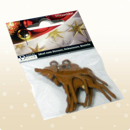 【クリスマス用品・布製チャーム】バンビ:ブラウン3枚入り[ Christmas:クリスマス ]★お一人様一回限り使えるクリスマスクーポン★ご利用ください♪