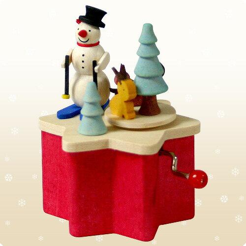 【クリスマス用品】Graupner:グラウプナー手回しオルゴール:ゆきだるま[ Christmas:クリスマス ]