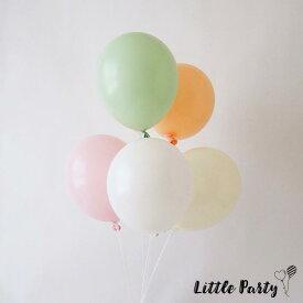 ゴム風船 [5枚セット] [27cm] 風船 パーティーバルーン ホワイト ナチュラル ピンク ミント パステルカラー 誕生日 バースデー 装飾 飾り付け デコレーション 女の子 男の子 おしゃれ かわいい