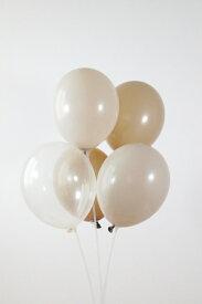 ゴム風船 [5枚セット] [27cm] 風船 パーティーバルーン クリアバルーン ナチュラル ブラウン ベージュ クリア 誕生日 バースデー 装飾 飾り付け ハーフバースデー デコレーション 女の子 男の子 おしゃれ かわいい