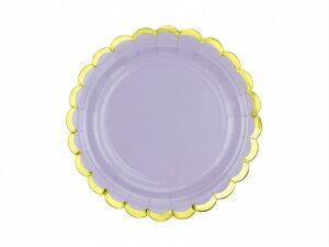 プレート ライトライラック パープル [6枚入り] 紙皿 ペーパープレート 誕生日 バースデー パーティー 誕生日会 ベビーシャワー パーティー テーブルコーディネート 装飾 [PartyDeco]