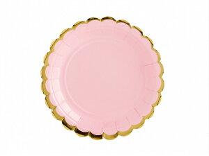 プレート ライトピンク [6枚入り] 紙皿 ペーパープレート 誕生日 バースデー パーティー 誕生日会 ベビーシャワー パーティー テーブルコーディネート 装飾 [PartyDeco]