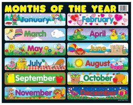 【幼児・小学生・中学生にオススメ 英語教材】マンス・オブ・ザ・イヤー Months of the Year
