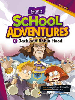 School Adventures Graded Comic Readers 2-6: Jack and Robin Hood (with CD)