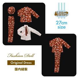 LFオリジナルドレスシリーズ 花柄スーツ/赤