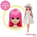 リトルファクトリーオリジナルドール お人形教室:スタンダードリカちゃん 髪色:ファイヤーピンクえらべるドレス小物…