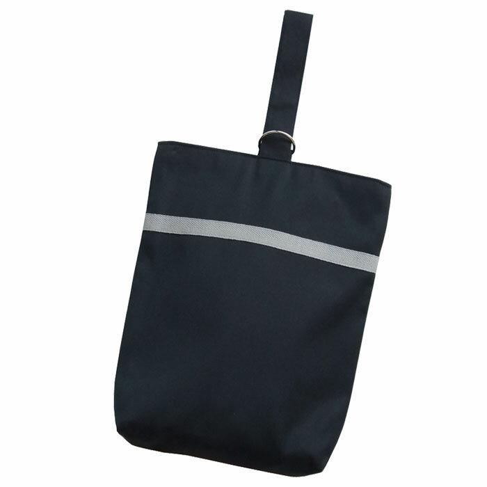 [上靴袋]お受験 ネイビー(濃紺) シンプルライン シューズバック・通学・通園[お受験][フォーマル][入園][入学]