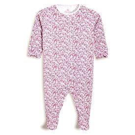 ≪C級難あり≫NEXT ネクスト カバーオール ロンパース スリープウェア 足つき 長袖 女の子ベビー服 ピンク小花