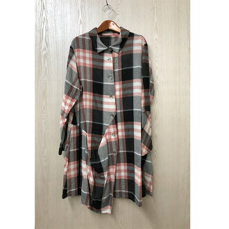 Checked pattern tunic BL