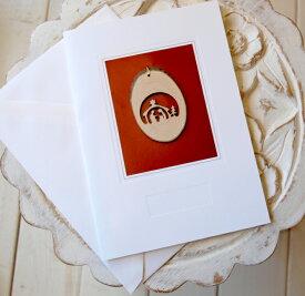 クリスマス 木製 オーナメント グリーティングカード メッセージ ギフト プチギフト クリスマスカードドイツ製ウッドオーナメントカード生誕
