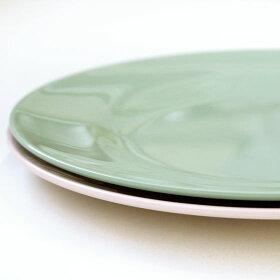 riceメラミンディナープレートターコイズ(直径25cm)
