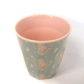 カラフルで割れにくいアウトドアやパーティ・介護におすすめ。北欧のメラミンのコップ/riceプリントメラミンカップ