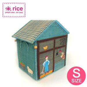 トイボックス おもちゃ箱 おもちゃ 宝箱 おうち かわいい 大きい 収納 お道具箱 かご バスケット フタ付き 丈夫 インテリア 北欧 女の子 北欧・デンマーク rice ライストイバスケット Sサイズ